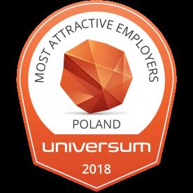 "Most Attractive Employers Poland"" Universum 2018"