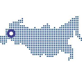 mapa z zaznaczonym zakładem w moskwie