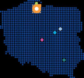 Map of Poland with Pharmaceutical Works in Starogard Gdański