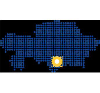 mapa z zaznaczonym zakładem w w szymken