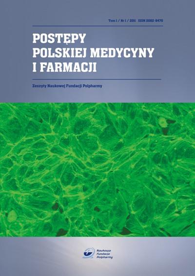 Postępy Polskiej Medycyny i Farmacji Tom 1 Nr 1 2011rok okładka