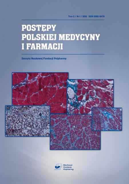 Postępy Polskiej Medycyny i Farmacji Tom 2/Nr 1/2012 okładka