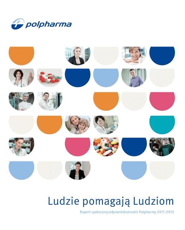 Okładka Polpharma Raport społeczny 2011-2013