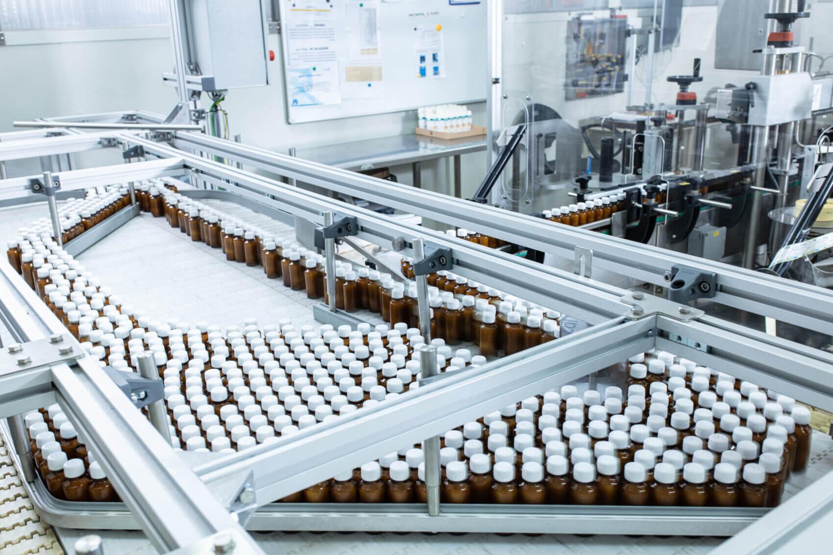 Leki na taśmie produkcyjnej