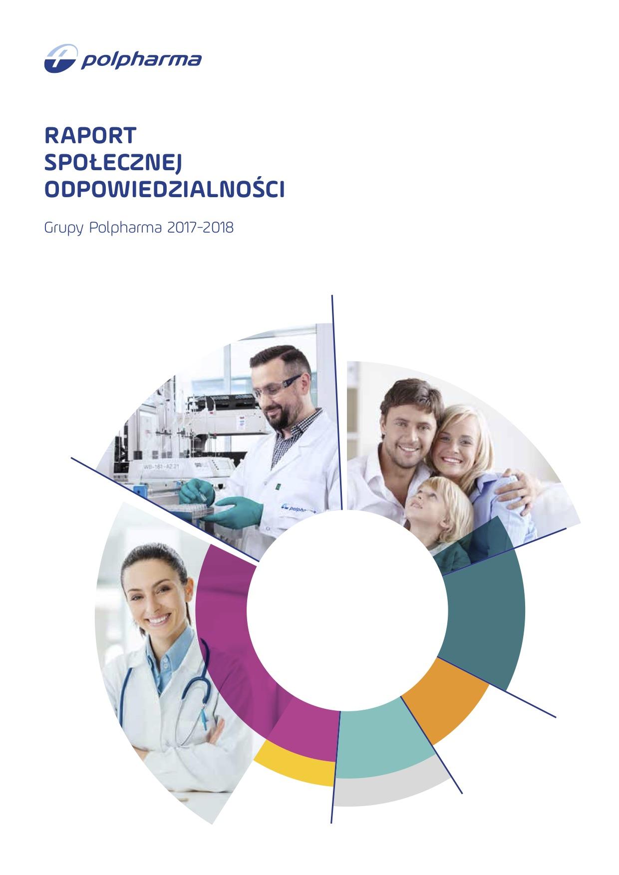 Okładka Raportu spolecznej odpowiedzialności 2017-2018
