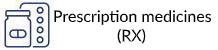 Prescription medicines (RX) logo