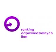 Fioletowe logo Rankingu Odpowiedzialnych Firm