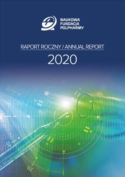 Okładka Raport roczny 2020 Naukowa Fundacja Polpharmy