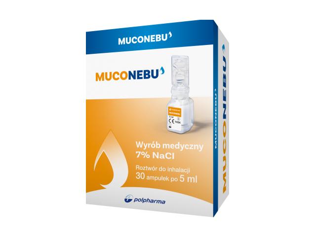 Muconebu 7%, roztwór do inhalacji, 30 amp. po 5 ml