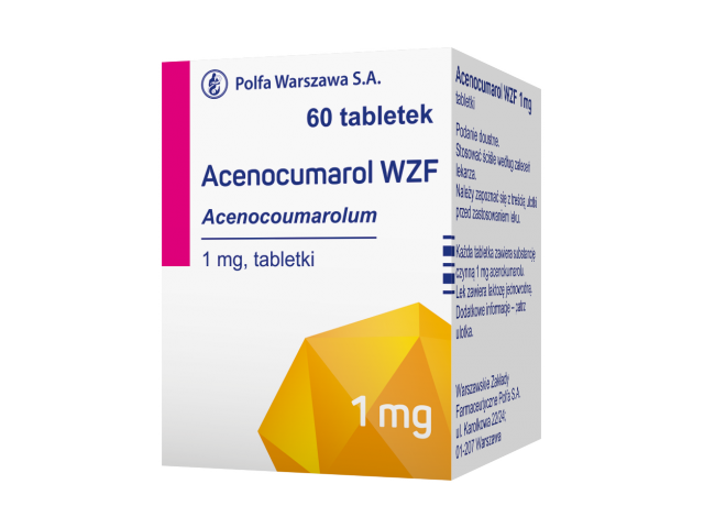 Acenocumarol WZF 1 mg x 60 tabl.