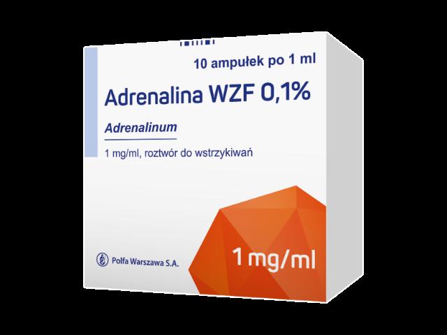 Adrenalina WZF 0,1 % rozt. do wstrz. 1 mg/ml 10 amp x 1 ml
