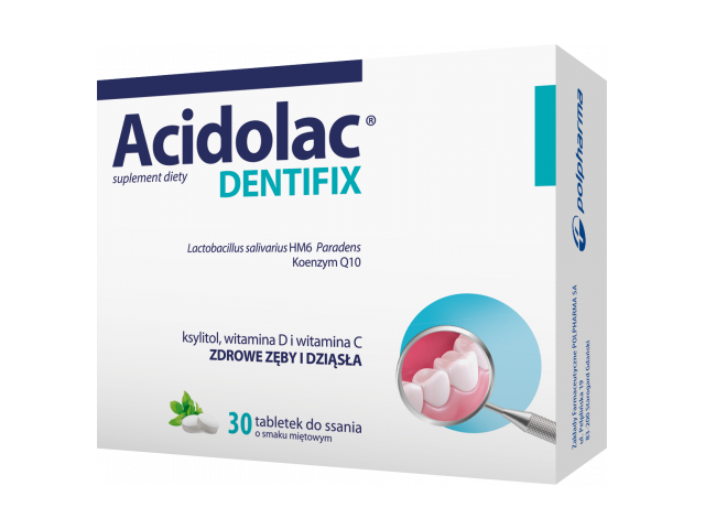 Acidolac Dentifix x 30 tabl. do ssania
