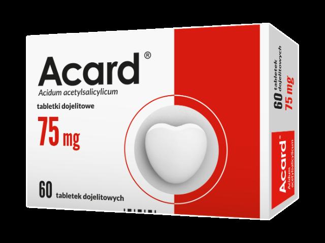 Acard 75 mg x 60 tabl. dojelit.