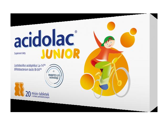 Acidolac Junior (pomarańcza) x 20 tabl.
