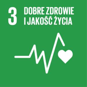 Zrównoważony Rozwój (SDGs) ikona Dobre zdrowie i jakość życia