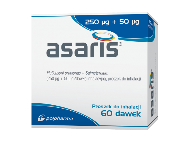 Asaris proszek do inh. 250 mcg + 50 mcg x 60