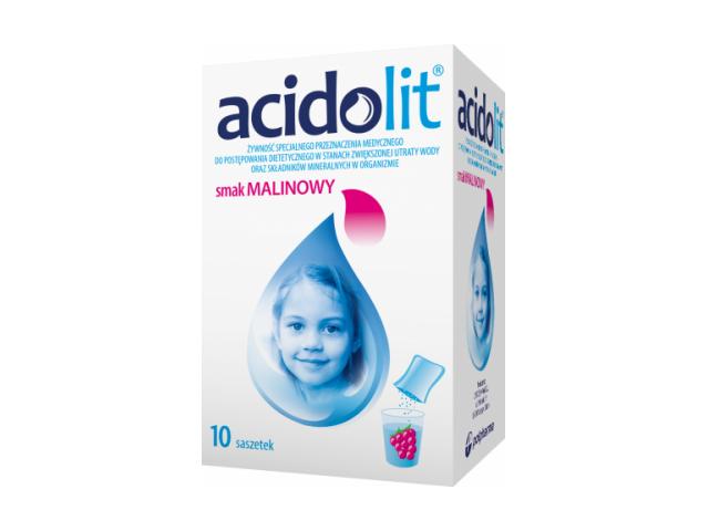 Acidolit (malina) proszek do przyg. rozt. doust. x 10 sasz.