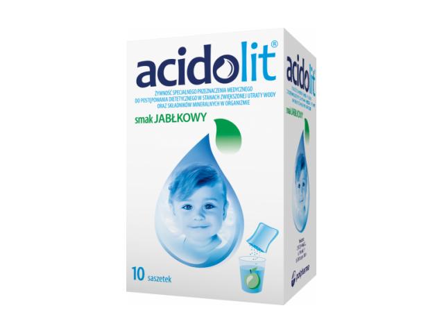 Acidolit (jabłko) proszek do przyg. rozt. doust. x 10 sasz.