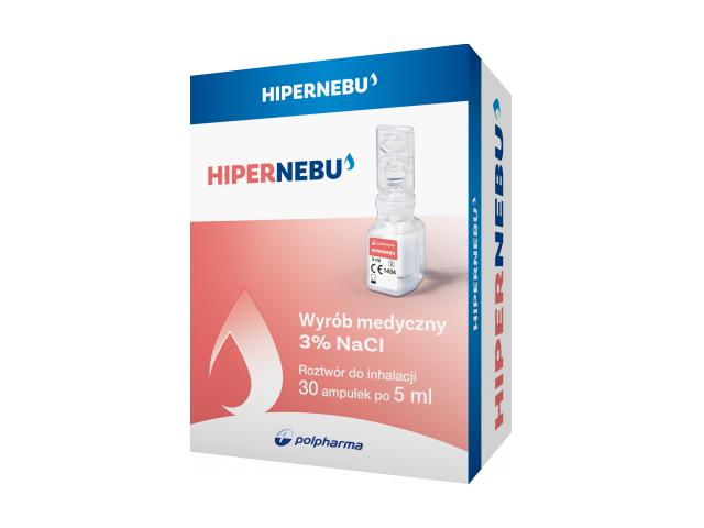 Hipernebu 3%, roztwór do inhalacji, 30 amp. po 5 ml