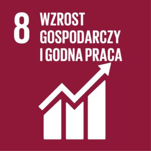 Zrównoważony Rozwój (SDGs) ikona Wzrost Gospodarczy i Godna Praca
