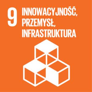 Zrównoważony Rozwój (SDGs) ikona Innowacyjność, Przemysł, Infrastruktura