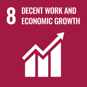 Sustainable development Decent work and economic growth icon