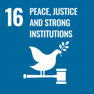 Sustainable development Peace, justice and stron institutions icon