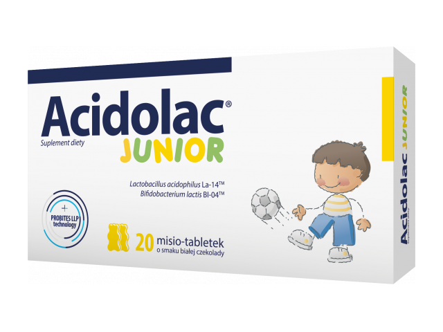 Acidolac Junior (biała czekolada) x 20 tabl.
