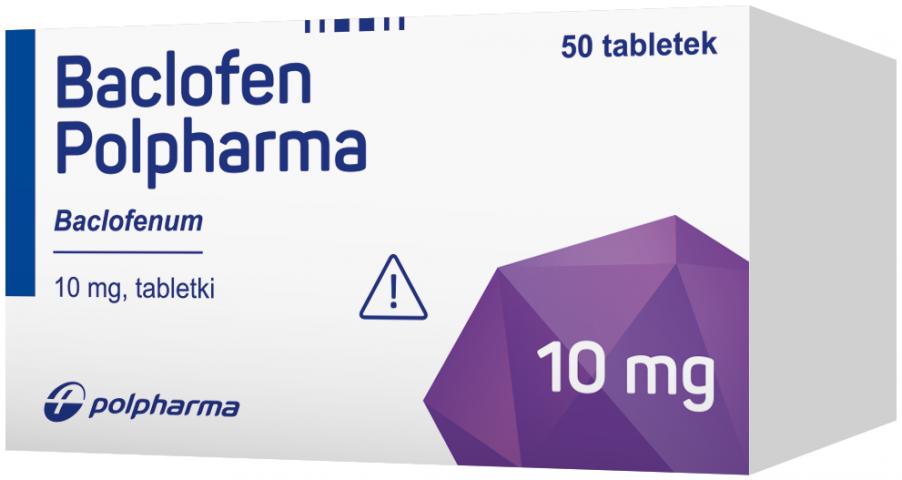 Baclofen Polpharma 10 mg x 50 tabl.