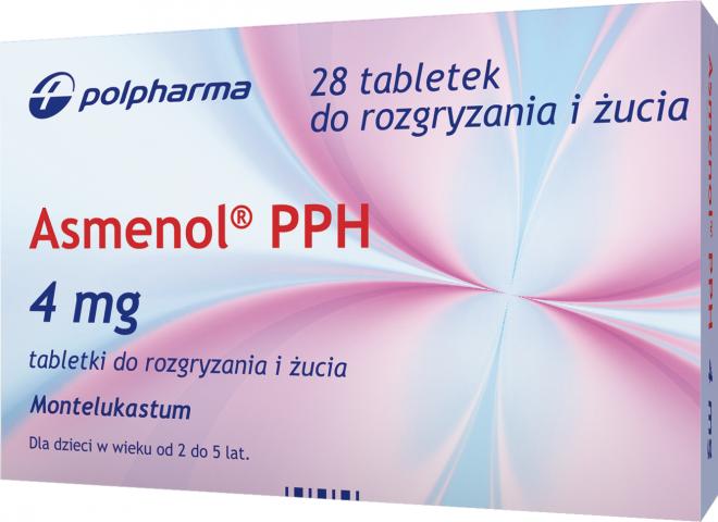 Asmenol PPH 4 mg x 28 tabl. do rozgryzania i żucia