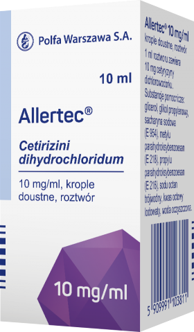 Allertec krople doustne 10 mg/ml 10 ml