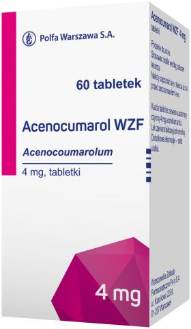 Acenocumarol WZF 4 mg x 60 tabl.