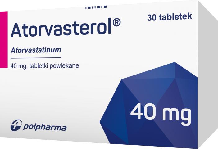Atorvasterol 40 mg x 30 tabl. powl.