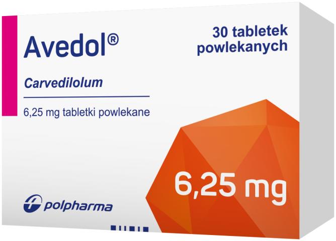 Avedol 6,25 mg x 30 tabl. powl.