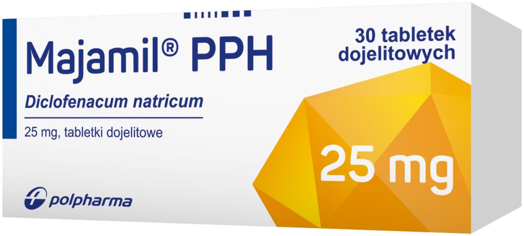 Majamil PPH 25 mg x 30 tabl. dojelit.