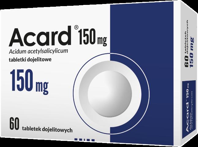 Acard 150 mg x 60 tabl. dojelit.