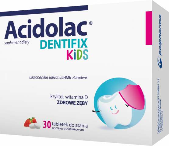 Acidolac Dentifix Kids x 30 tabl. do ssania