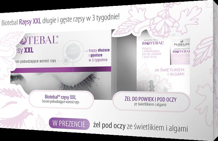 Biotebal Rzęsy XXL 3ml i Żel ze świetlikiem 15 ml /pakiet/