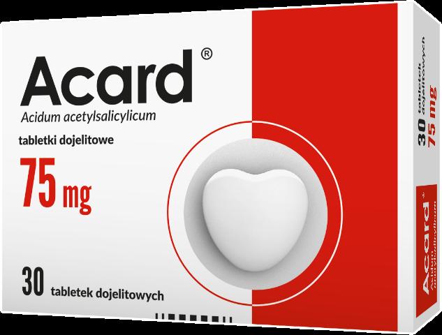 Acard 75 mg x 30 tabl. dojelit.