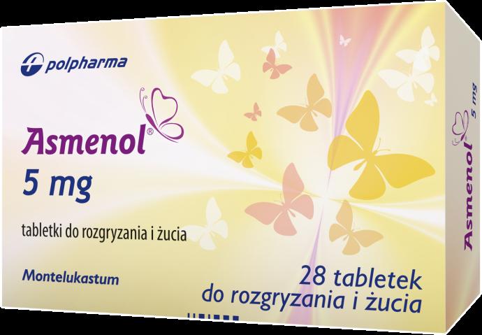Asmenol 5 mg x 28 tabl. do rozgryzania i żucia