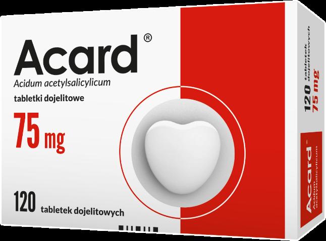 Acard 75 mg x 120 tabl. dojelit.