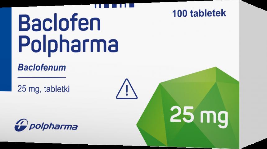 Baclofen Polpharma 25 mg x 100 tabl.