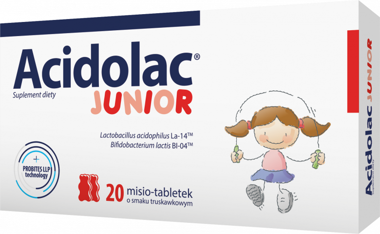 Acidolac Junior (truskawka) x 20 tabl.