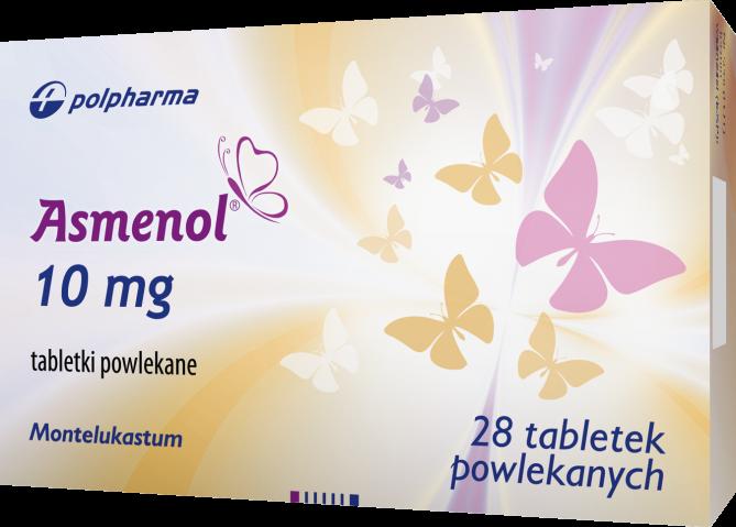Asmenol 10 mg x 28 tabl. powl