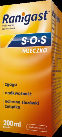 Ranigast S-O-S MLECZKO (410+51+205 mg/15 ml) 200 ml