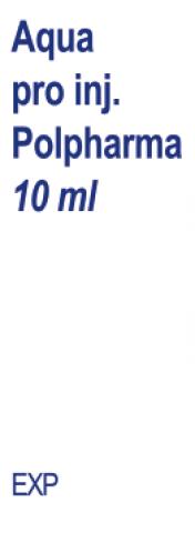 Aqua pro injectione Polpharma rozp. do sporządz. leków parenteral. 10 ml x 100 /poliet/