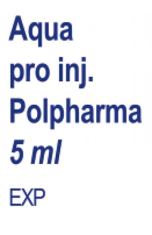 Aqua pro injectione Polpharma rozp. do sporządz. leków parenteral. 5 ml x 100 /poliet/