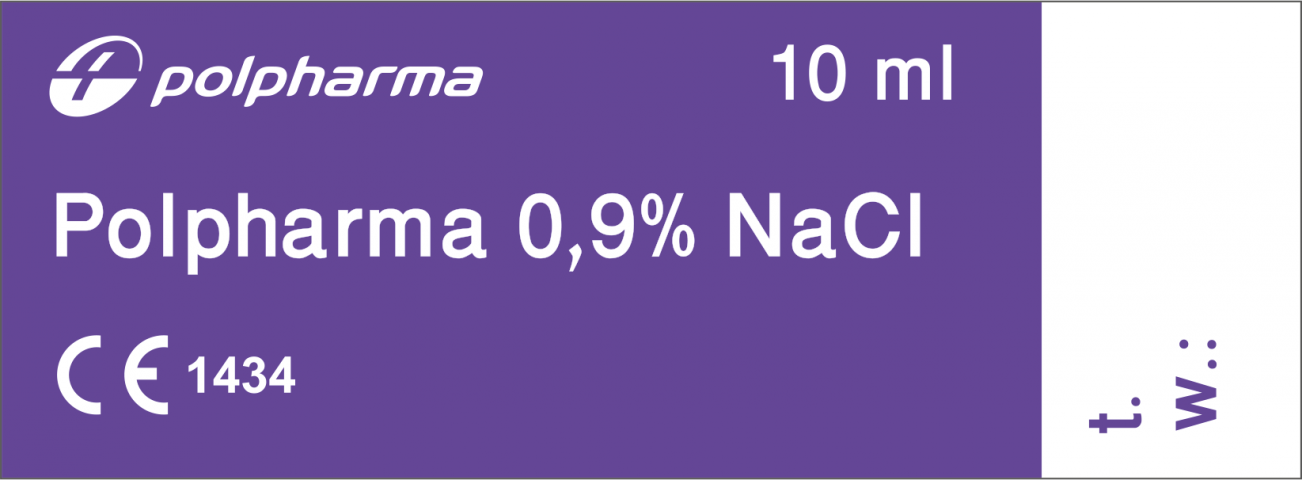 Polpharma 0,9% NaCl 10 ml x 100 amp.