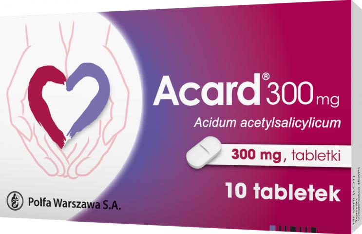 Acard 300 mg x 10 tabl.