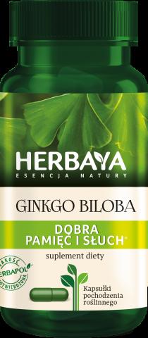 Herbaya Ginkgo Biloba dobra pamięć i słuch x 60 kaps.